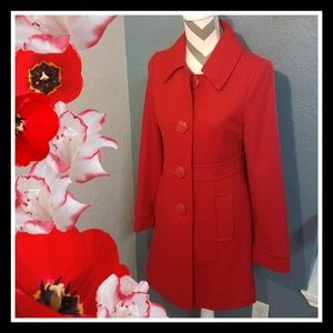 Tulle Jackets & Coats - Red Pea Coat